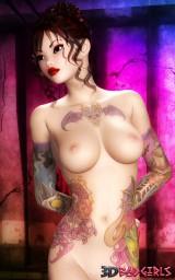 Luscious 3D emo girl - CGI Girl 3D
