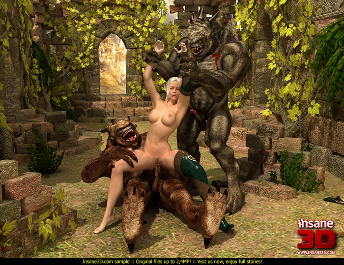 Huge horny trolls - Insane3D