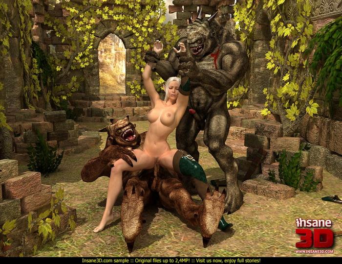Huge horny trolls - Insane3D