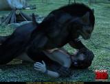 Sex with werewolf - 3D CGI Porn Insane3D