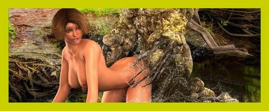 Forest man fucking story - 3D CGI Porn Xeno 3DX