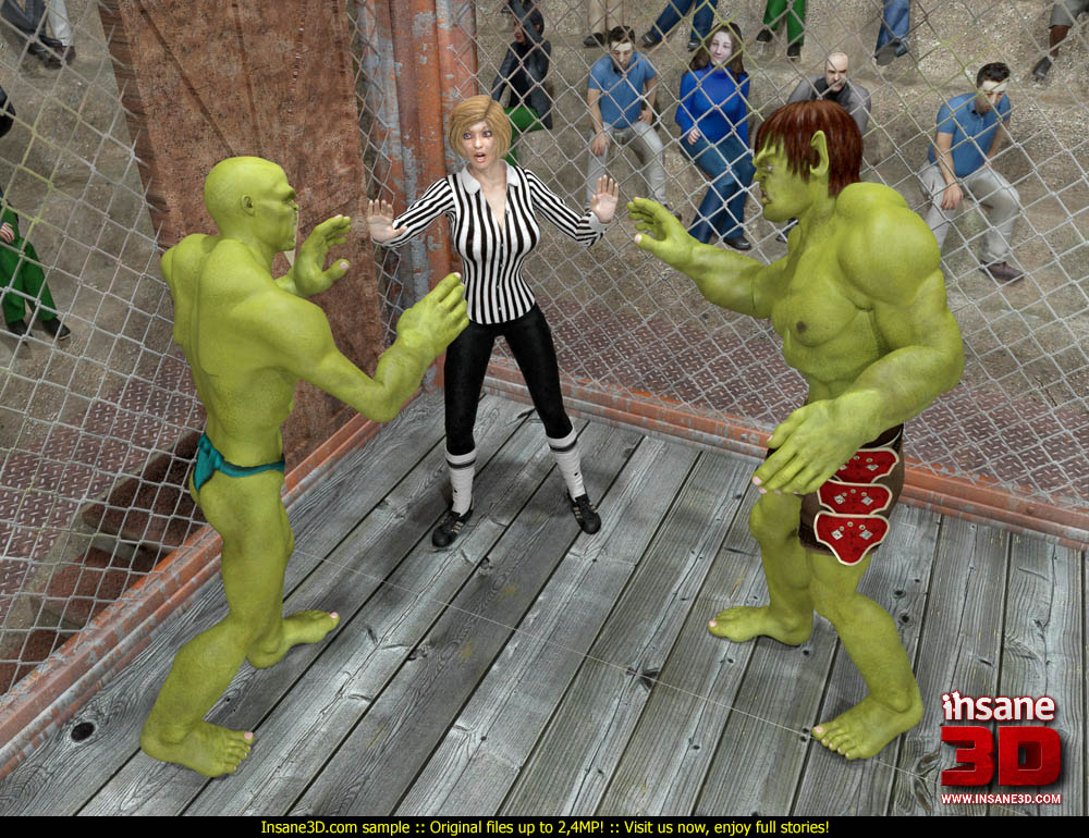 3d porn blog presents wrestlers from space