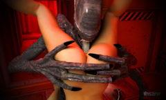 3d cgi porn with an alien monster